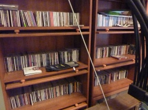 CDs in alphabetical order. Just dare to remove Spirit of the West and try to place it up by One Republic